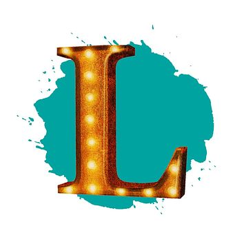 "24"" Letter L Lighted Vintage Marquee Letters (Rustic)"