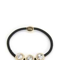 Black Triple Stone Hair Elastic by Juicy Couture, O/S