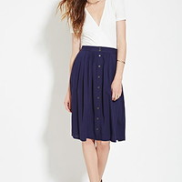 Contemporary Buttoned Midi Skirt
