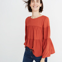 Tiered Button-Back Top
