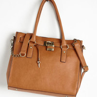 Scholastic Full Course Load Bag in Cognac - 14 inch by Melie Bianco from ModCloth