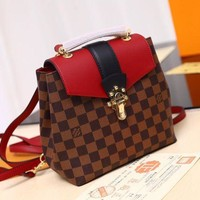 LV Louis Vuitton WOMEN'S DAMIER CANVAS CLAPTON BACKPACK BAG-KUYOU