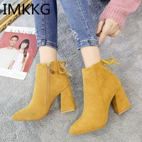 Winter Women Shoes Woman Boots Sexy High Heels Ankle Boots Woman Shoes Booties V254