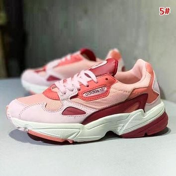 Adidas Falcon W Fashion New Mesh Contrast Color Running Leisure Shoes Women 5#