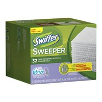Swiffer Sweeper Dry Sweeping Cloths Mop And Broom Floor Cleaner Refills Febreze Lavender Vanilla & Comfort Scent 32 Count
