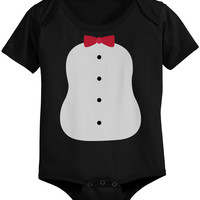 Penguin Costume Baby Onesuits Black Infant Snap On Bodysuits Perfect for Halloween
