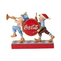 Coca Cola Coke Elf Marching Figurine by Jim Shore New with Box