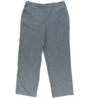 Alfred Dunner Womens Checkered Pleated Casual Pants