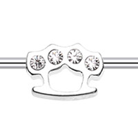 Brass Knuckles Industrial Barbell