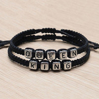 Couple  Handmade King And Queen His Hers Charm Bracelets