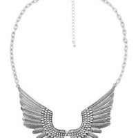 Etched Wings Bib Necklace