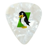Cute penguin cartoon pearl celluloid guitar pick