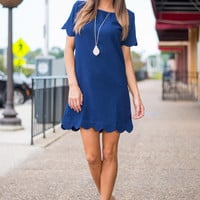 Loopty Lou Dress, Navy
