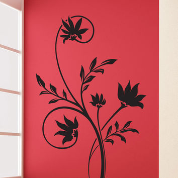 Vinyl Wall Decal Sticker Spiky Flowers Vine #1509