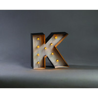 LARGE LIGHTED MARQUEE K