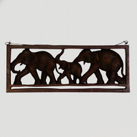 NOVICA FOREST FAMILY WOOD HANGER