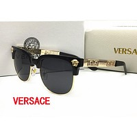 Versace Stylish Women Men Simple Summer Sunglasses Sun Shades Eyeglasses Glasses Black
