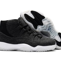 Air Jordan Retro 11 XI Black Wool Basketball Shoes Men Women 11s Black Wool Trainers Athletics Sneakers High Quality With Shoes Box