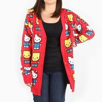 The Simpsons x Hello Kitty Red Cardigan