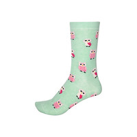 River Island Womens Green owl print ankle socks