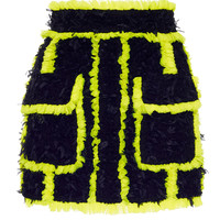 Tweed Fluorescent Trim Mini Skirt | Moda Operandi