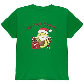 Avo Have A Merry Christmas Avocado Cute Funny Pun Youth T Shirt