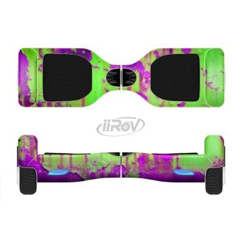 The Lime Green Metal with Hot Purple Rust Full Body Skin Set for the Smart Drifting SuperCharged Transportation iiRov