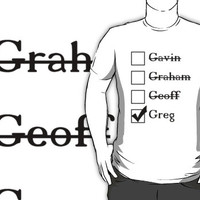 Is that why you're calling yourself 'Greg'?