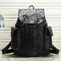 Women Fashion Travel Leather Backpack Bookbag