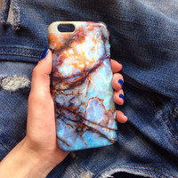 Blue marble iPhone Case, iPhone 6 Plus Case, Marble iPhone 6 Case, Marble iPhone 5S, iPhone 5C Case, iPhone 5 Case, iPhone 4s Case