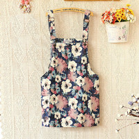 Fashion leisure Shoulder strap print dress