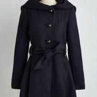 70s Long Long Sleeve Once Upon a Thyme Coat in Midnight Blue