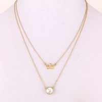 Crown Necklace - Gold or Silver