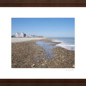 Humarock Beach, March, Scituate, Massachusetts, 8x10 print in 11x14 mat, signed