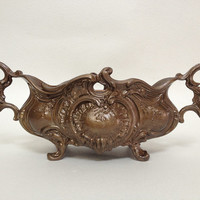 Antique Cast Iron Planter with Patina Bronze - Louis XV Style - Rococo Decor - Early XXth Century