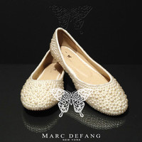 Classic Ivory Pearl Flats by MDNY on Etsy