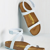 The Gist of Minimalist Sandal in Powder Blue | Mod Retro Vintage Sandals | ModCloth.com