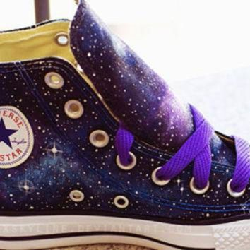 CREYON galaxy converse sneakers hand painted low top