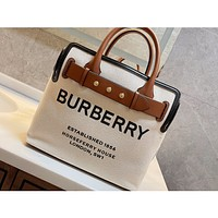 Burberry Women's Leather Shoulder Bag Satchel Tote Bags Crossbody36*29cm 0514cx