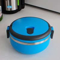 Lunch box Creative Stainless steel Lunch Box Candy Colors Dinnerware Portable Thermal Storage Box = 1958206916