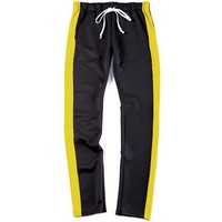 2T Black and Yellow Track Pants Jogger