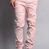 Men's Jogger Twill Pants (Dirty Pink)