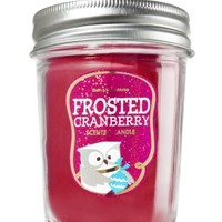 Mason Jar Candle Frosted Cranberry