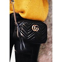 Gucci Fashion New Women Shopping Chain Leather Shoulder Bag Crossbody Satchel