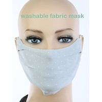 Gray 2 Layer Cotton Face Mask