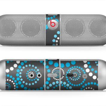 The Retro Blue Circle-Dotted Pattern Skin for the Beats by Dre Pill Bluetooth Speaker