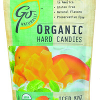 Go Organic Hard Candy - Iced Mint Mango - 3.5 Oz - Case Of 6