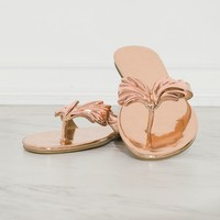Paradise Sandals Rose Gold