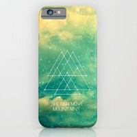 She Can Move Mountains iPhone & iPod Case by Olivia Joy StClaire