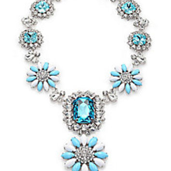 Miu Miu - Retail Resort Swarovski Crystal Flower Pendant Necklace - Saks Fifth Avenue Mobile